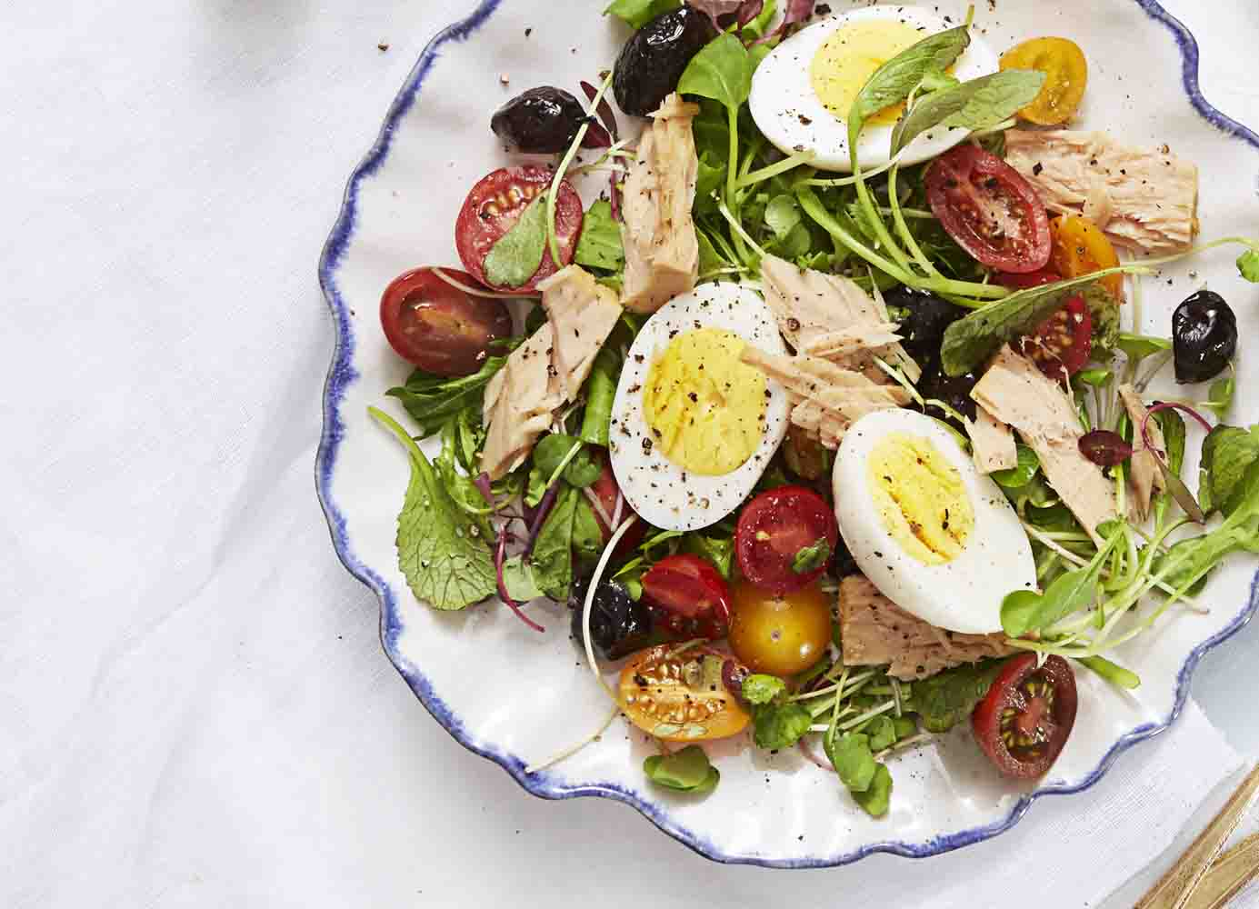 digital photo organizing ideas - Niçoise Salad