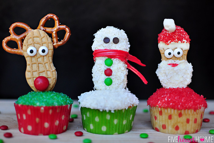 28 Adorable Cupcakes to Bake for Christmas - Recipes for Christmas ...
