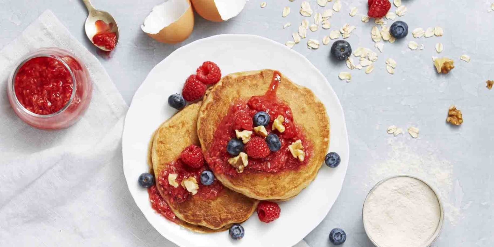 Whole-Grain Berry Pancakes