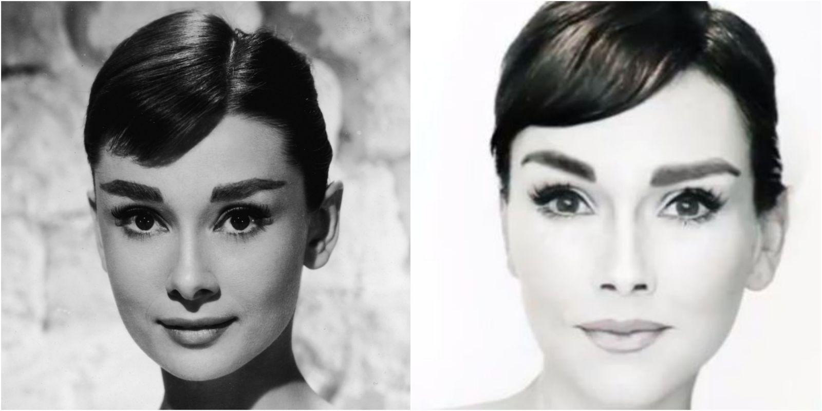 Audrey Hepburn Makeup Transformation - How to Do Audrey Hepburn's ...