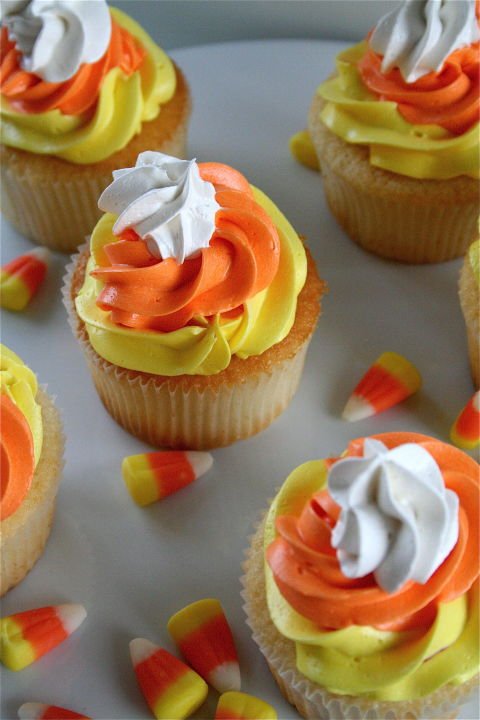 these are as easy as piping three different color icings on a cupcake if you