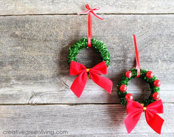 Cute christmas ornaments we know how to do it for Christmas decorations easy to make at home