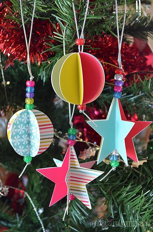 35 homemade christmas ornaments diy handmade christmas for How to make paper christmas decorations at home