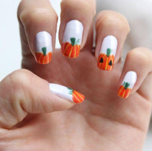 55 halloween nail art ideas easy halloween nail polish designs prinsesfo Image collections