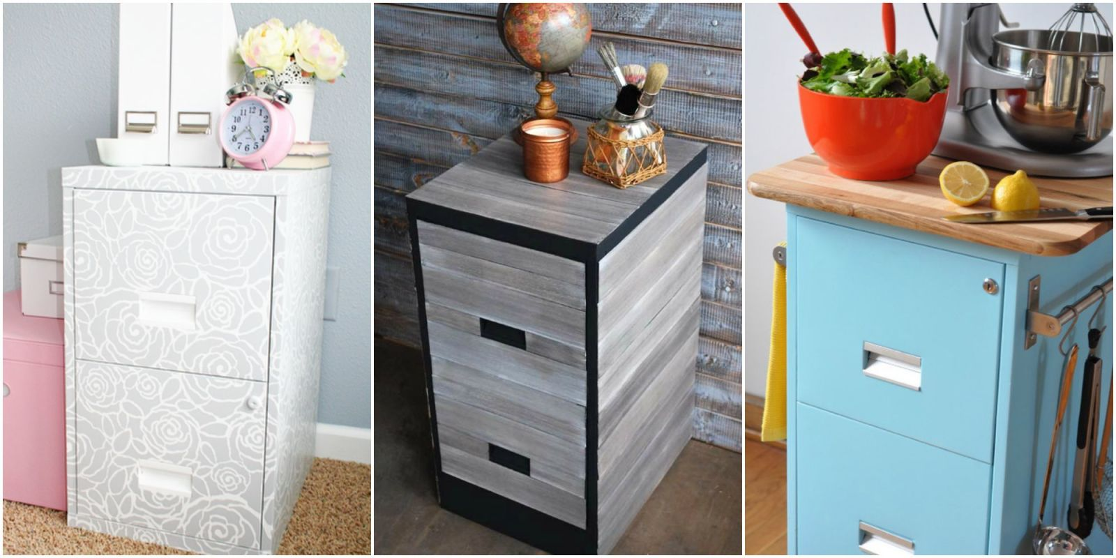9 Filing Cabinet Makeovers New Uses For Filing Cabinets
