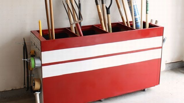 Filing Cabinet Rake Storage