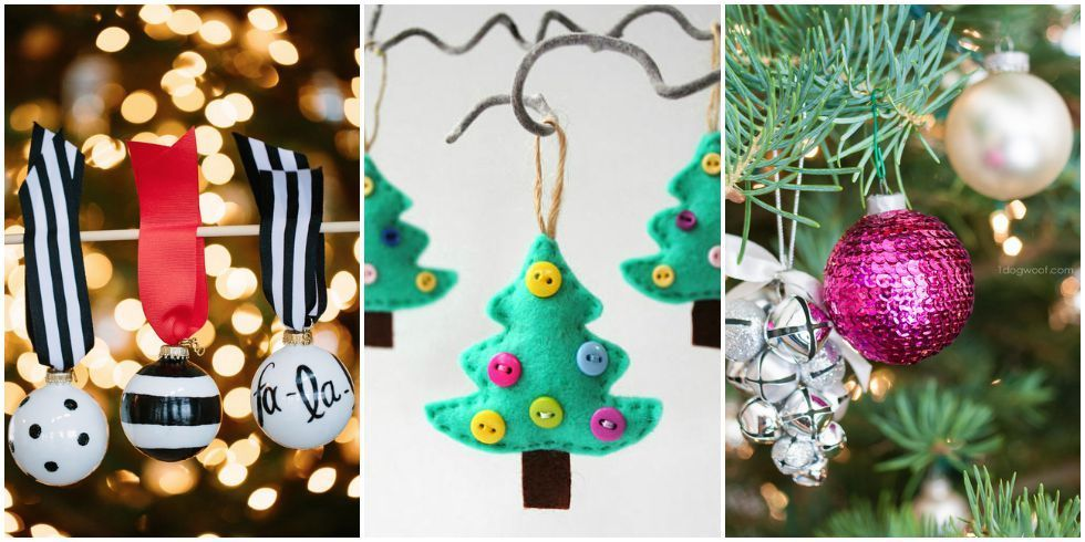50 homemade christmas ornaments diy handmade holiday for Christmas decorations easy to make at home