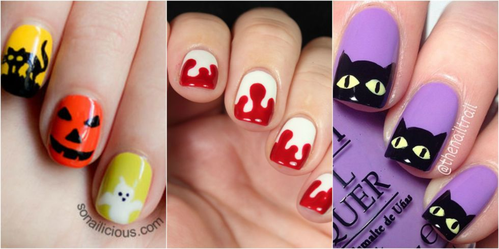 26 Halloween Nail Art Ideas- Easy Halloween Nail Designs