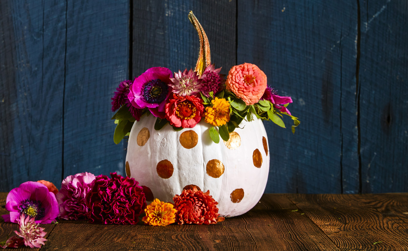 55 pumpkin designs we love for 2017 pumpkin decorating Flower painted pumpkins