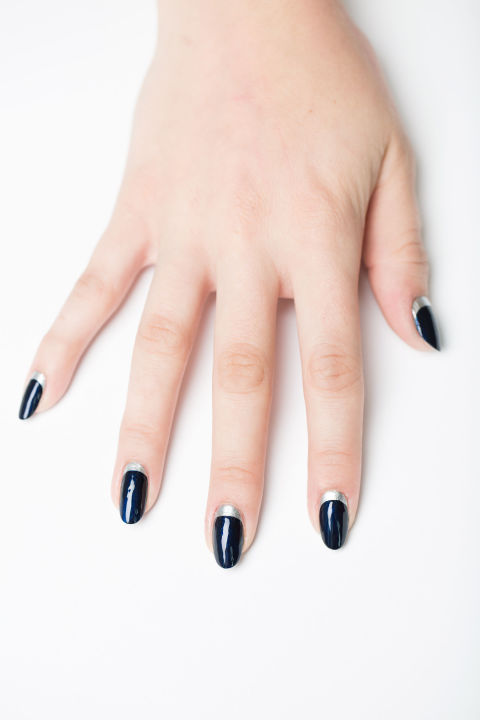 12 easy nail designs simple nail art ideas you can do yourself reverse french tip prinsesfo Gallery