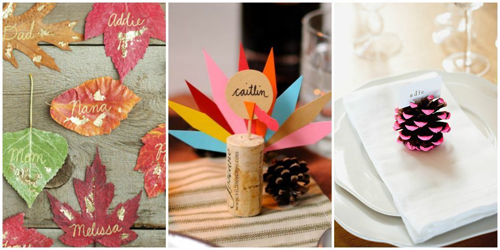 Homemade thanksgiving table place cards diy thanksgiving for Diy thanksgiving table place cards