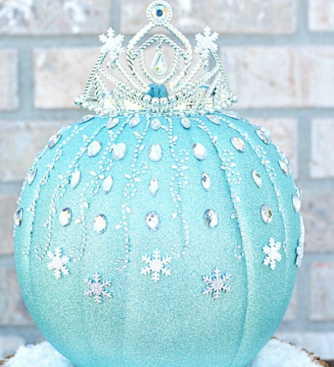 disney frozen halloween pumpkin - Frozen Halloween Decorations