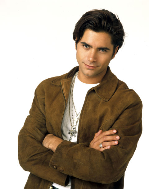 John Stamos Gifted Candace Cameron Bure A Vintage Poster Of Himself The View Appearance