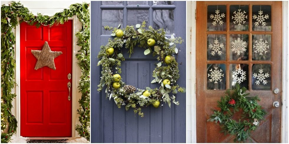 24 christmas door decorating ideas best decorations for for Door xmas decoration ideas