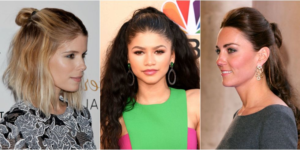 Groovy 13 Half Up Half Down Hairstyles Half Up Bun Hairstyle Trend Short Hairstyles Gunalazisus