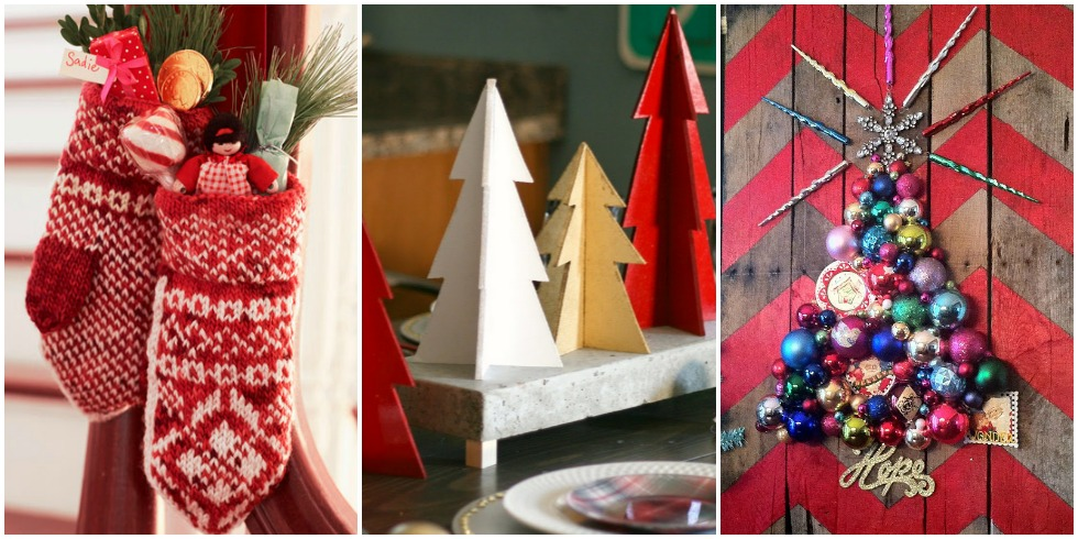 60 diy christmas decorations easy christmas decorating ideas for Christmas decorations ideas to make at home