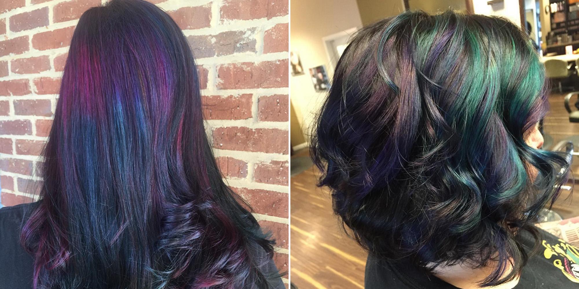 Oil Slick Hair Color Trend