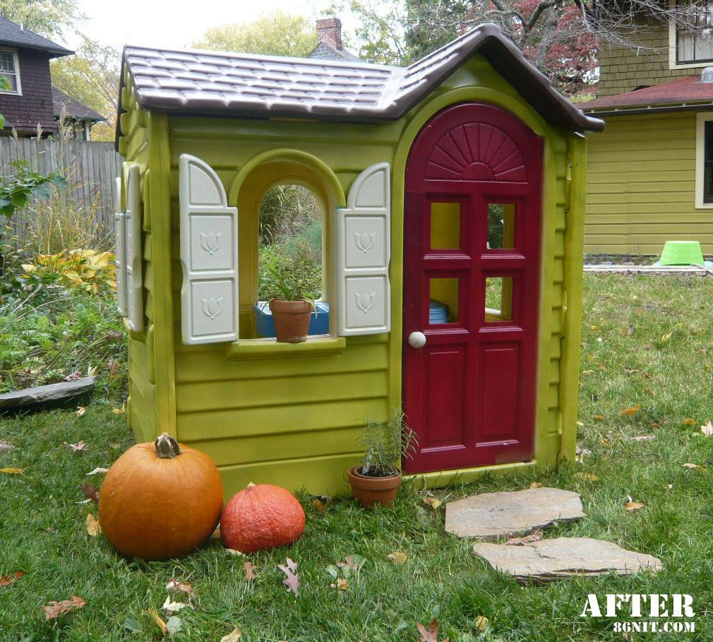 little tikes playhouse makeovers diy playhouse. Black Bedroom Furniture Sets. Home Design Ideas