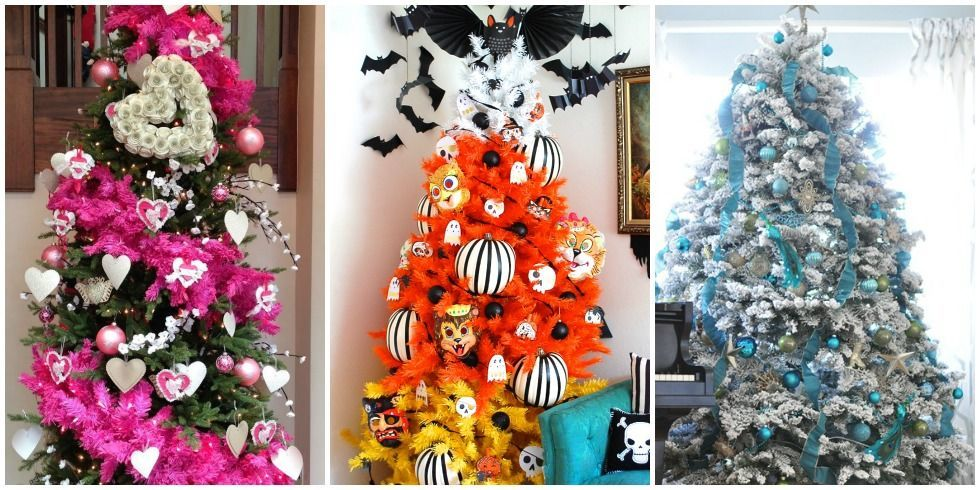 as a holiday decor junkie you clearly need a halloween tree a fourth of july tree and a valentines day tree - Halloween Tree Decorations