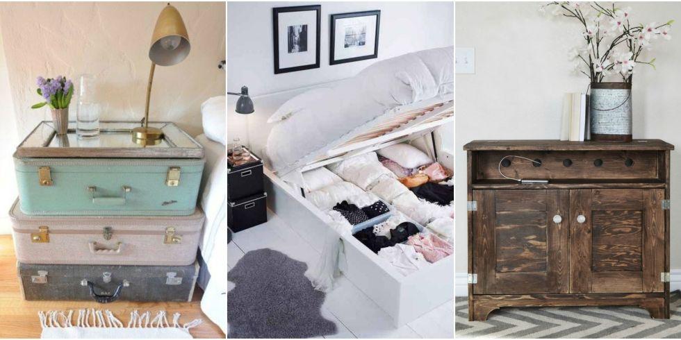 Bedroom Storage Hacks - Bedroom Organization Ideas