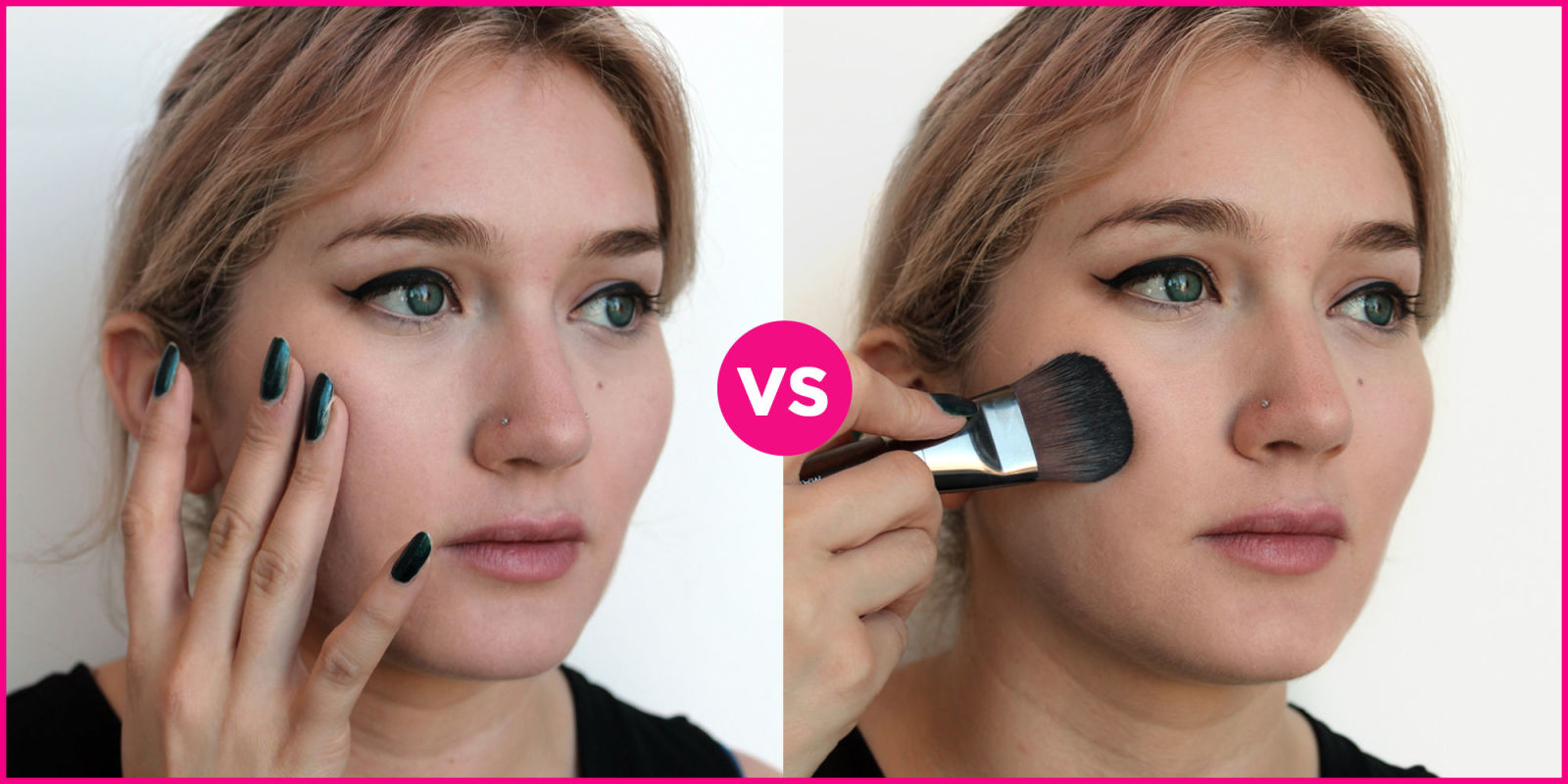 Why You Should Apply Foundation With A Brush Instead Of Fingers Tips For  Foundation Brushes