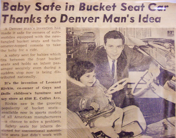 in 1962 two different men designed models that took advantage of seat belts