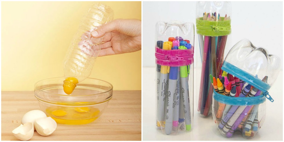 New uses for water bottles water bottle upcycle diy for Water bottle recycling ideas