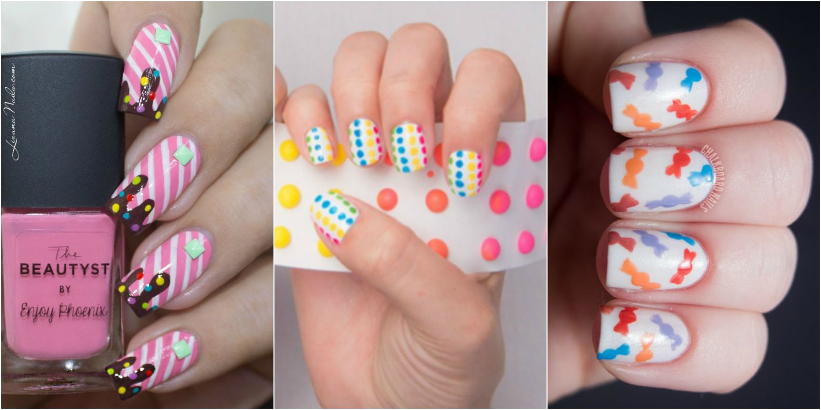 12 candy nail art designs dessert and food nail art ideas prinsesfo Choice Image