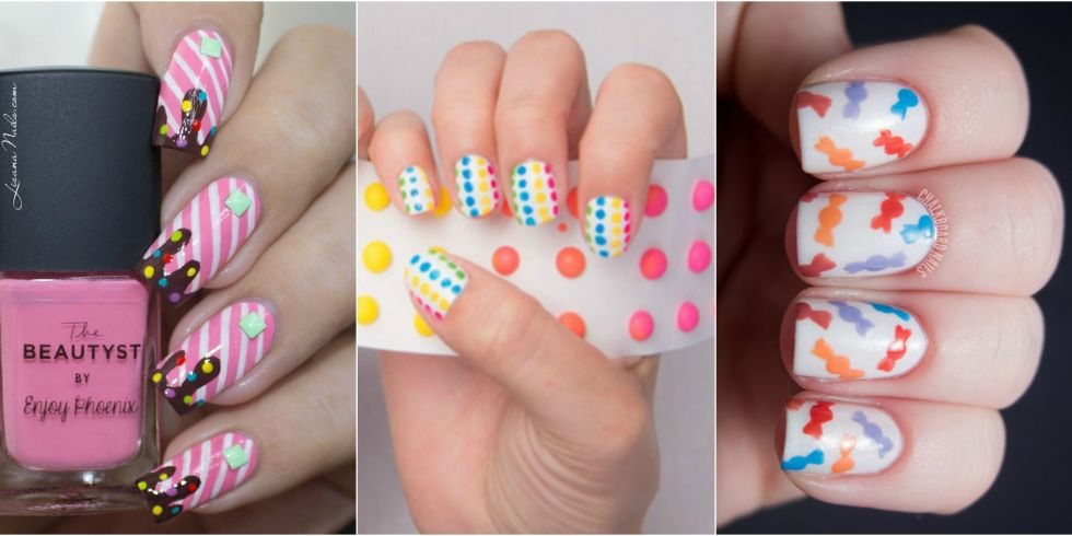 view gallery - 12 Candy Nail Art Designs — Dessert And Food Nail Art Ideas