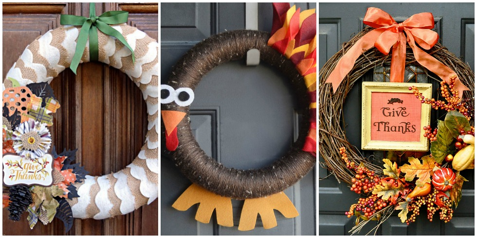 21 Diy Thanksgiving Wreaths Easy Thanksgiving Door