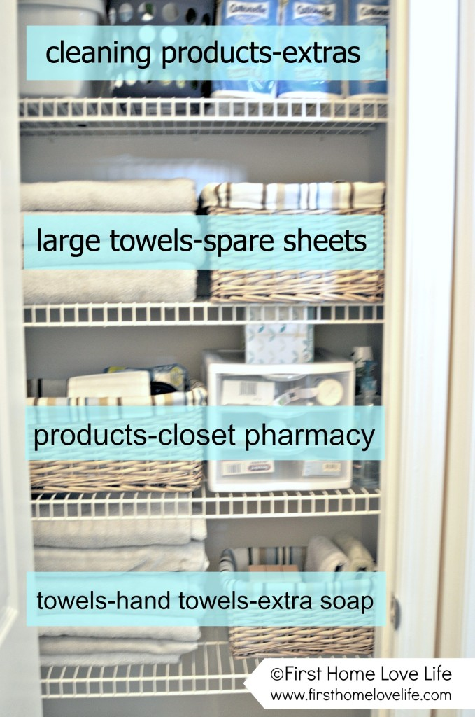 Linen Closet Organization Tricks - How to Organize Your Linen Closet