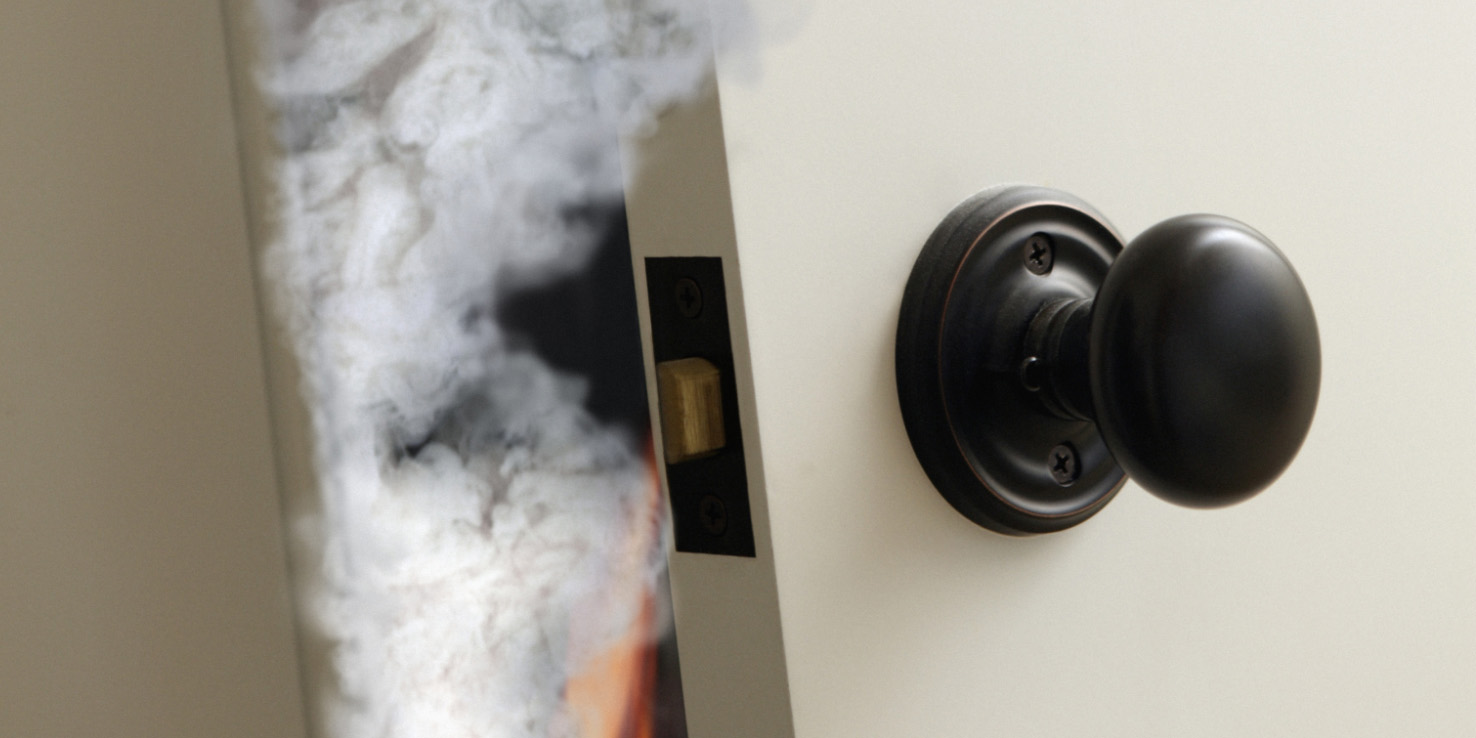 Close Door On Fire : New research says closing your door could save life