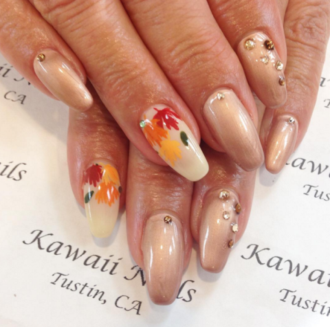 25 thanksgiving nail art designs ideas for november nails autumnal accents prinsesfo Gallery