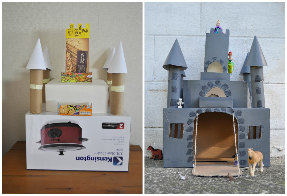 18 cardboard box crafts to make kids cardboard box ideas for Castle made out of cardboard