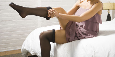 Girl in laddered black pantyhose - 1 part 2