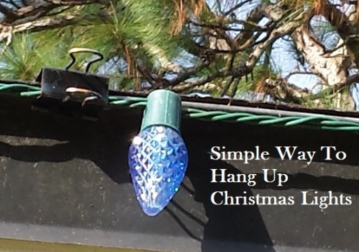 employ those office supplies - How To Hang Up Christmas Lights