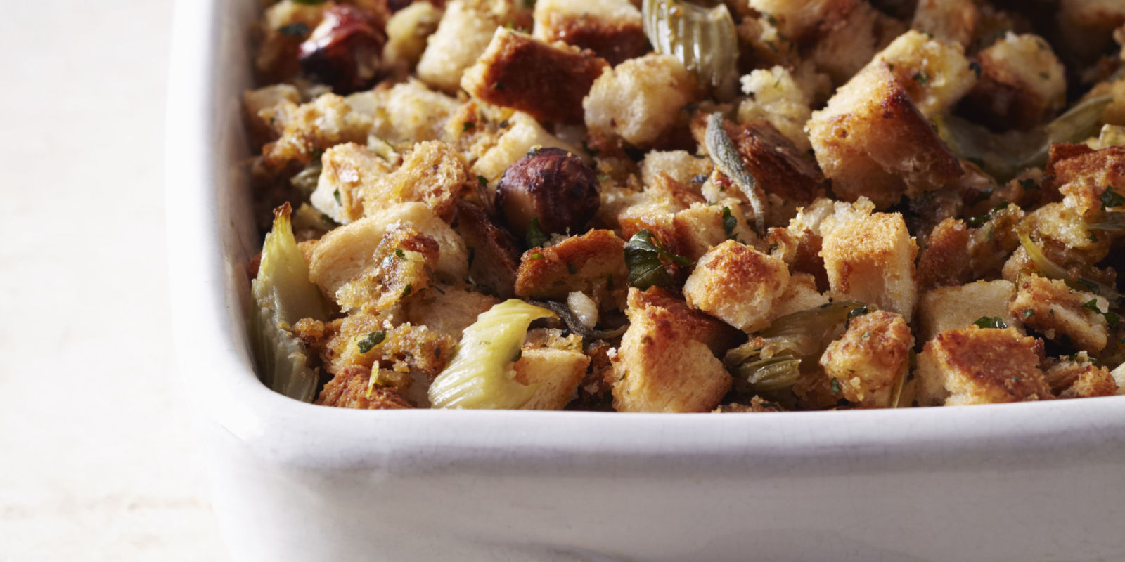 Turkey Stuffing Recipe - Traditional Bread Stuffing with ...