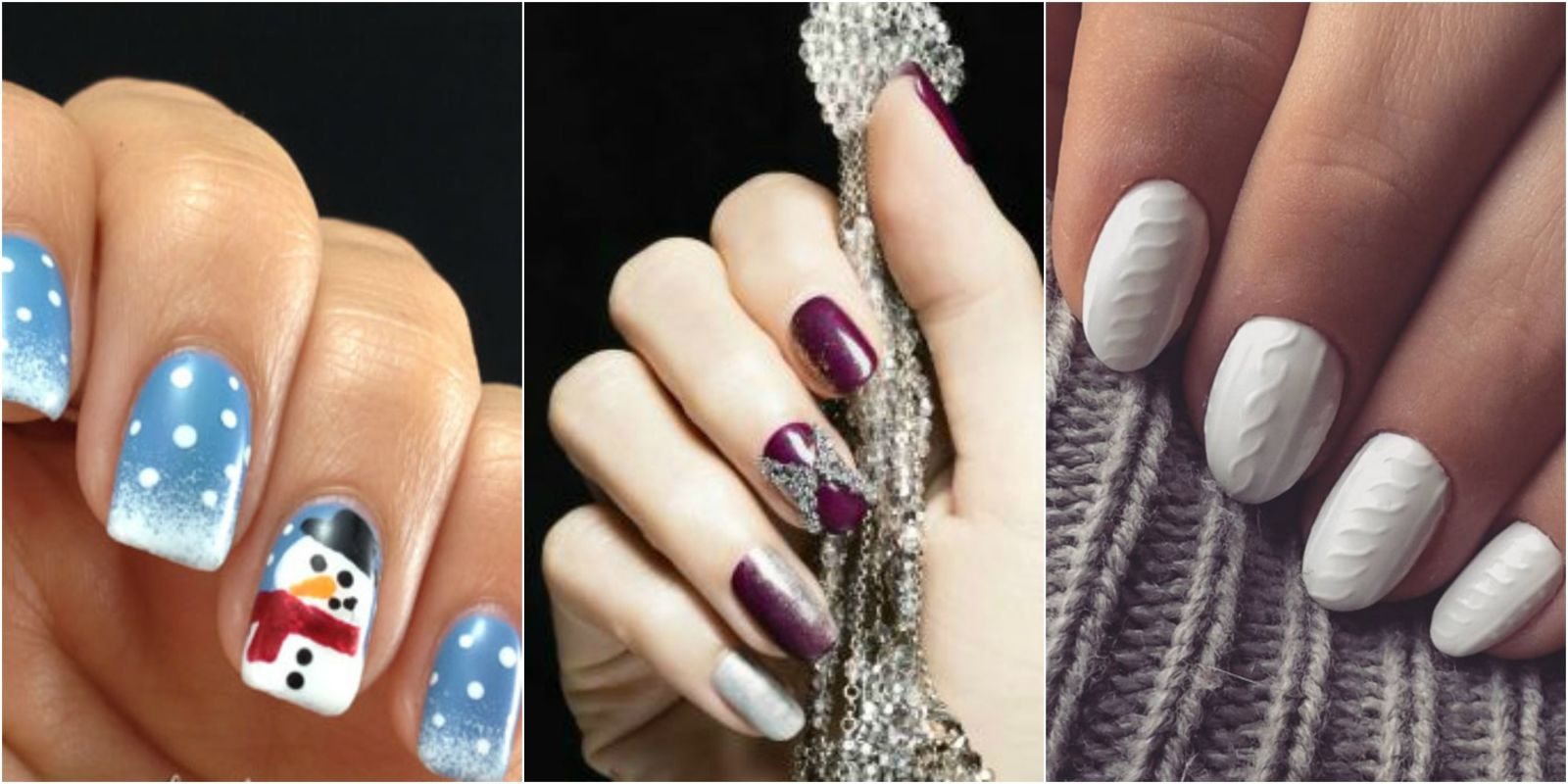 16 winter nail art ideas designs for new years and holiday nails prinsesfo Images