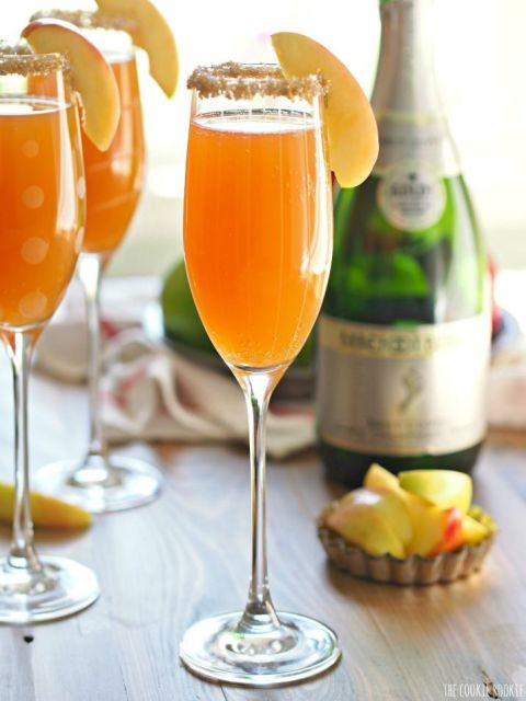 Let's not forget the bubbly. This two-ingredient cider mimosa will ...