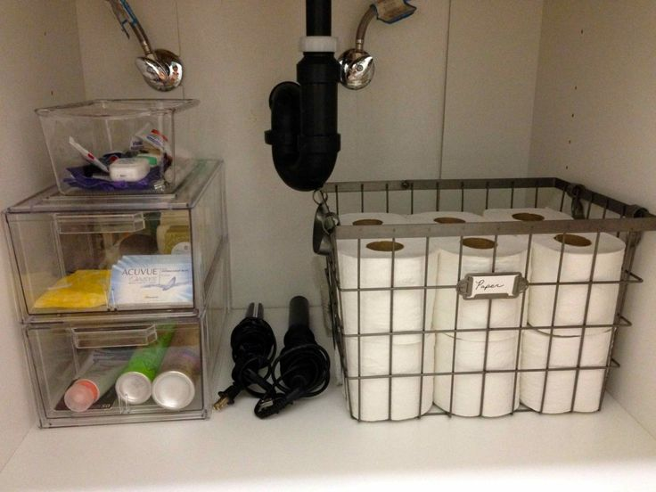 How To Organize A Small Bathroom under the sink organization - bathroom and kitchen organizing tips