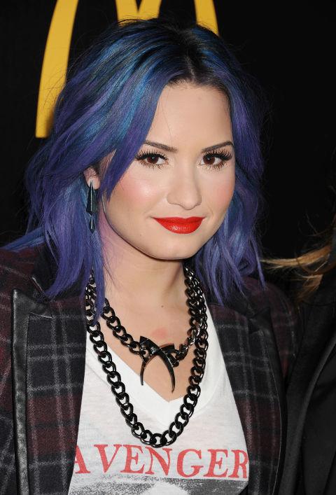 Demi lovato purple ombre hair