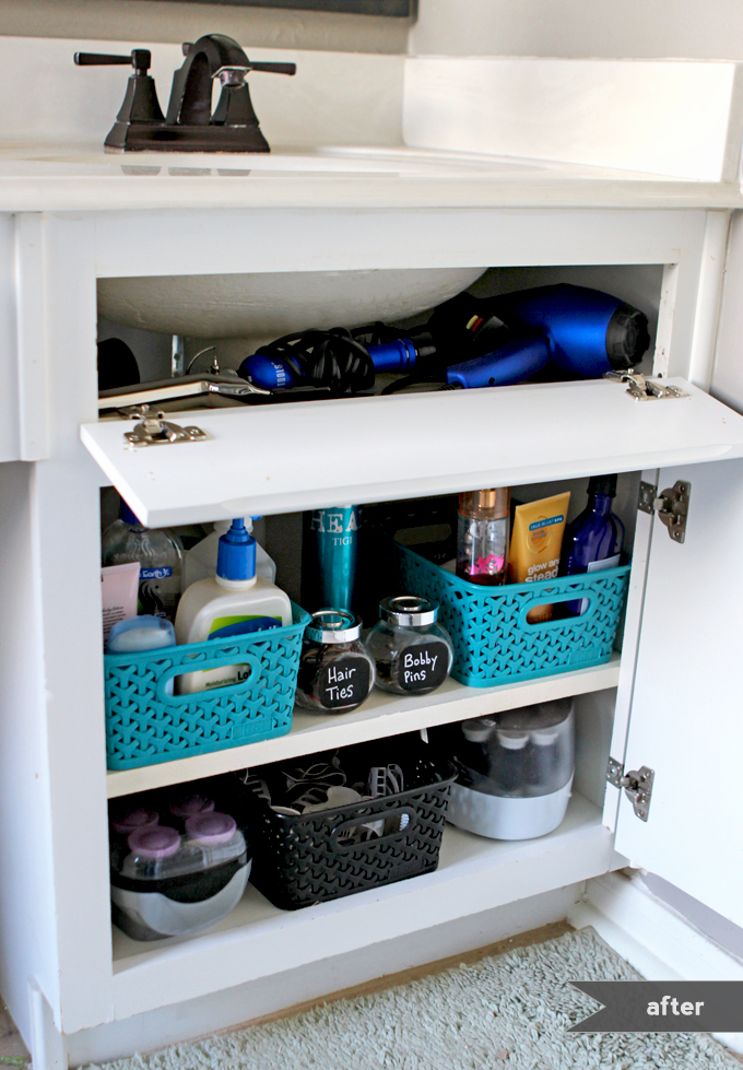 under the sink organization bathroom and kitchen organizing tips - Bathroom Organizers Under Sink