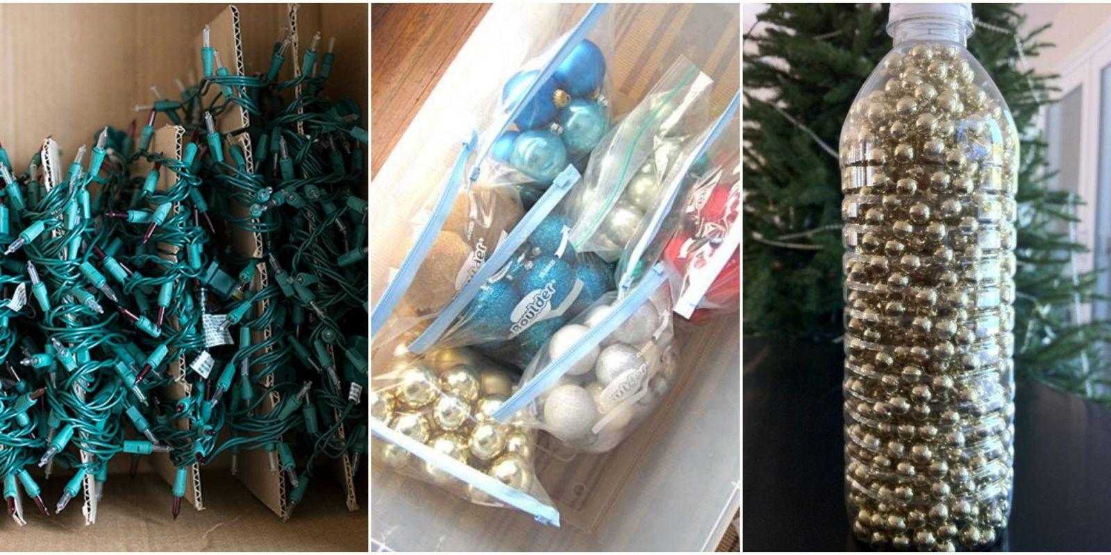 Christmas Decoration Storage Ideas  How To Store Fake Christmas Trees &  Holiday Decor