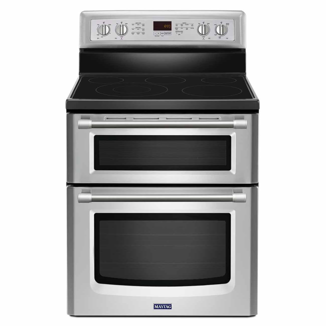 Double Ovens Electric ~ Maytag inch wide double oven electric range with power