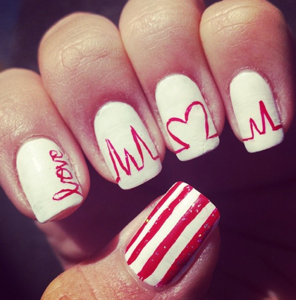 25 best valentines day nails hot nail art design ideas for 25 best valentines day nails hot nail art design ideas for valentines day sciox Gallery