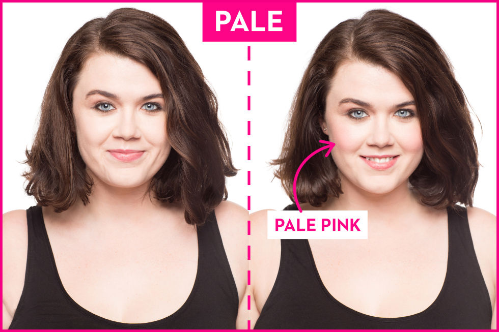 The Best Blush Colors For Your Skin Tone How To Pick A - Hair colour yellow skin