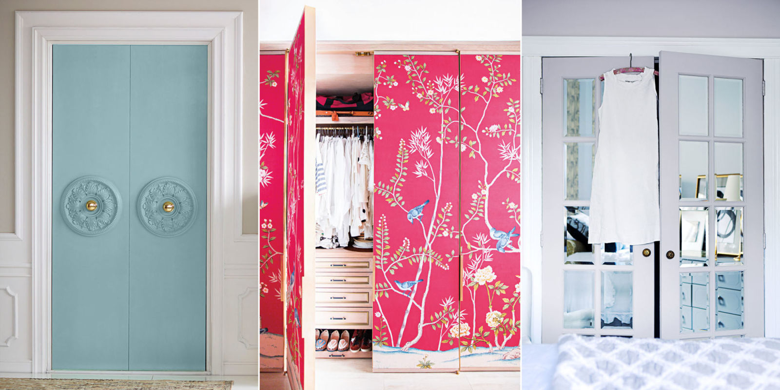 How to make over your closet doors designer closet door for Closet door ideas