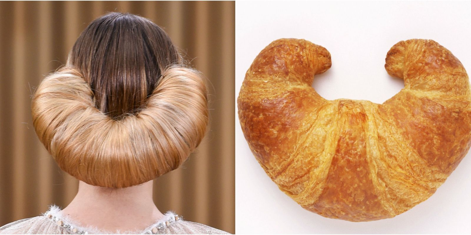 Croissant Hair Takes The Runway At Chanel Spring Chanel Updo - Croissant hairstyle bun