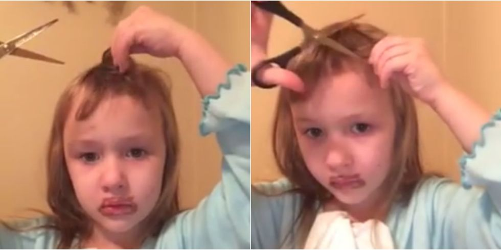 landscape 1453743687 girl cutting her own bangs index little girl cuts her own hair viral video of little girl cutting
