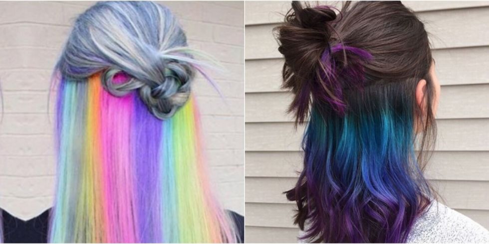The underlights hair color trend secret rainbow hair color pmusecretfo Gallery